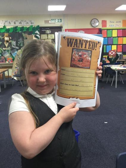 So we created Wanted posters to find him!