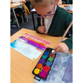 Watercolour paintings of the sky to go alongside our alliterative poetry.