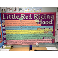 Our sentence stacking display.