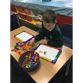 Building words using magnetic letters
