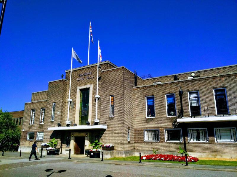 Havering Town Hall - the LA municipal administration headquarters in Romford town centre