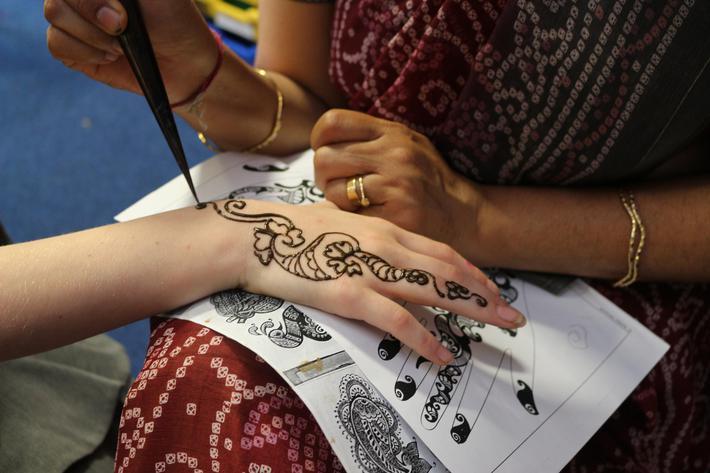 Mehendi is commonly used at weddings