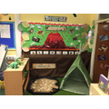 Dinosaur role-play area.