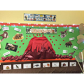 Dinosaur role-play display.