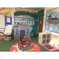 Jack and the beanstalk role-play area.