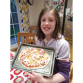 Delicious Pizza By Freya