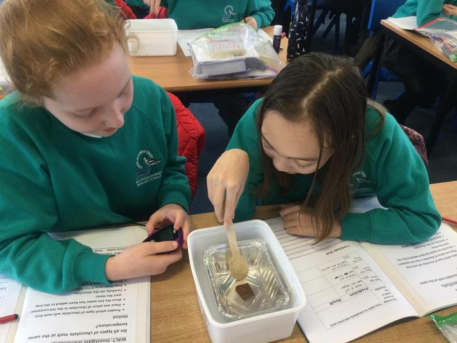 Investigating the melting points of chocolate