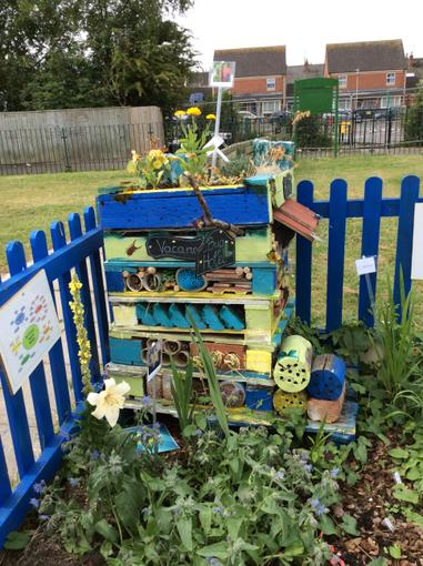 Bug hotel renovated by one of our mums-Thank you!