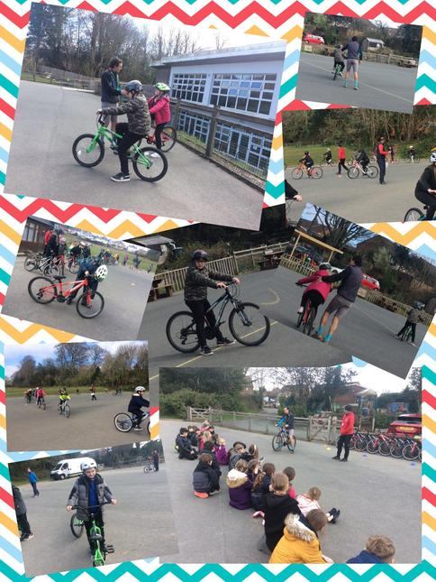 Fun-filled day on our bikes!