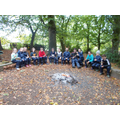 Group 2 enjoying Forest School