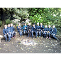 Forest School around the fire-pit.