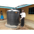 The first of 2 water tanks