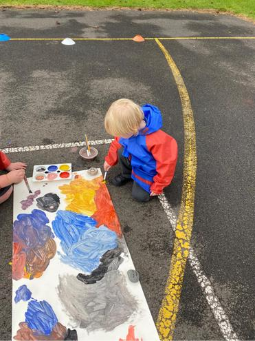 Reception- playing with colour