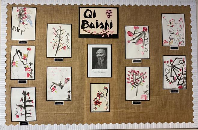 Year 1- Qi Baishi line painting