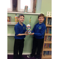 We created our own Leaning Towers of Pisa!