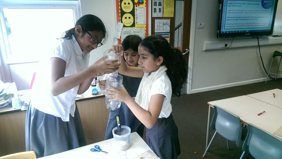 Designing and making a water filter in Year 5.