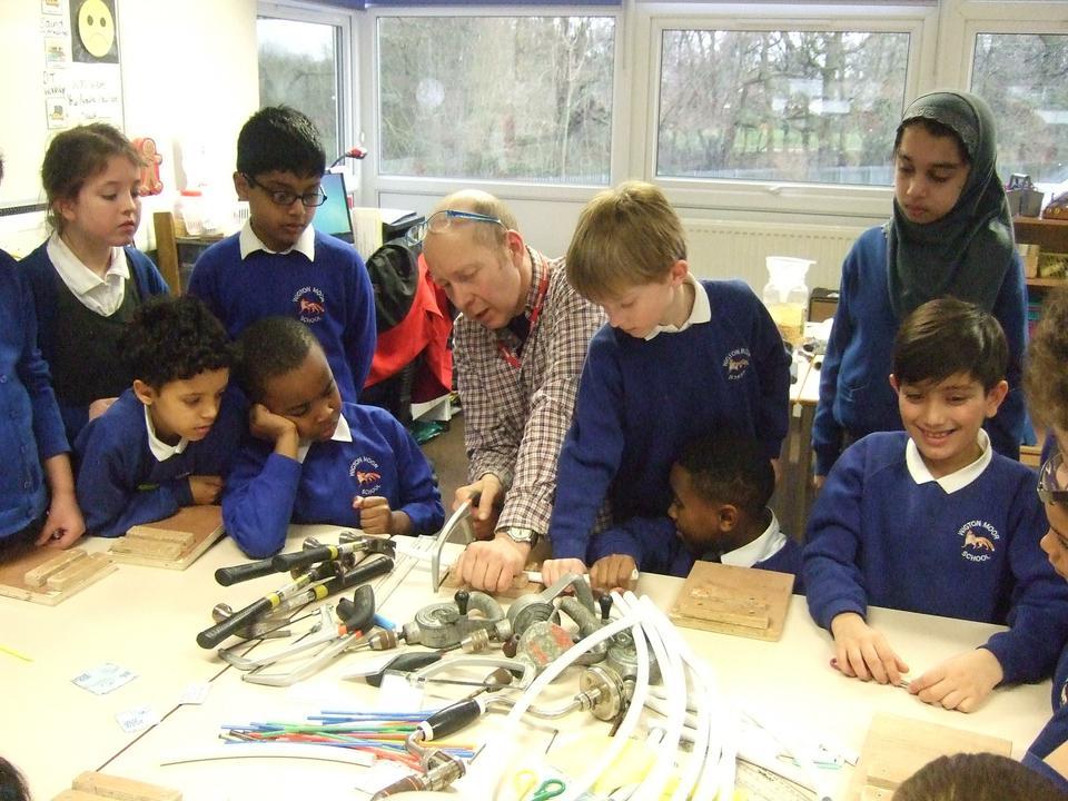 Year 4 sound workshop - making musical instruments