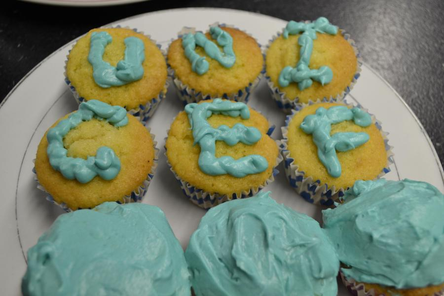 Our students baked and iced cakes