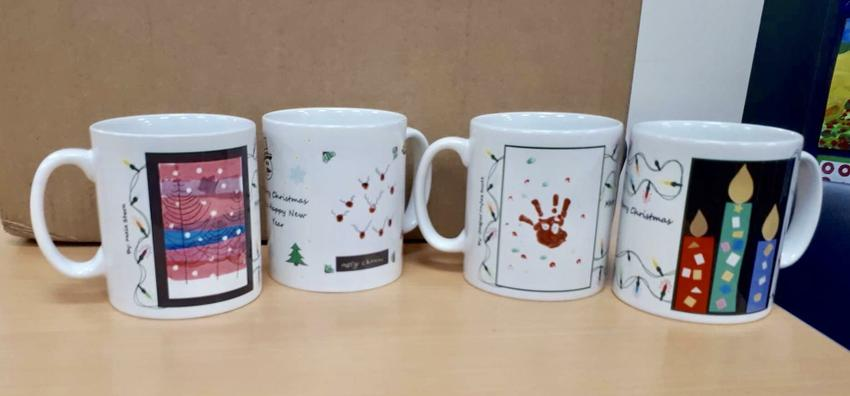 Mugs designed by Willaston pupils