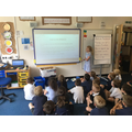 Harriet presents a PowerPoint topic web homework