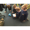Coding lesson using robots