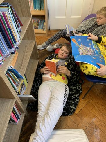 The children love laying down whilst reading