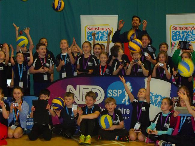 Young sports ambassadors together