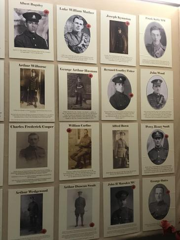 Pictures of the local soldiers involved in the war