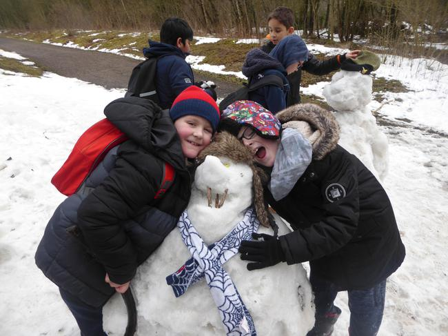 We love our snowman!