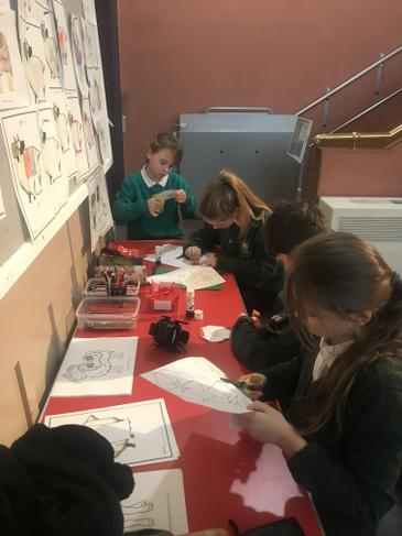 Making poppies for the museum display