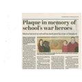 Sleaford Standard 11th January 2017  http://www.sleafordstandard.co.uk/news/education/plaque-in-memory-of-school-s-war-heroes-1-7773865