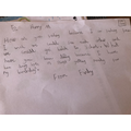 Finlay's letter to a loved one