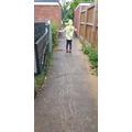 Patricija's PE in the rain