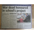 Sleaford Target 24.6.15: http://www.sleafordtarget.co.uk/Sleaford-war-dead-honoured-school-s-project/story-26751281-detail/story.html