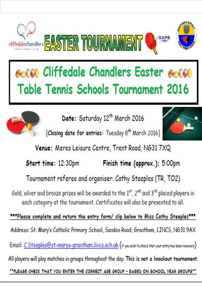 Table Tennis Tournament for Beginners
