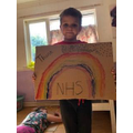 Luke's lovely poster supporting the NHS