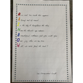 Lexi's beautiful RAINBOW poem