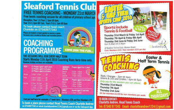 Free tennis coaching