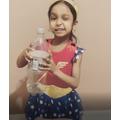 Neha's magic 'scissors in a bottle' trick