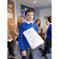 Charlie earns his certificate