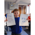 Jack earns his certificate