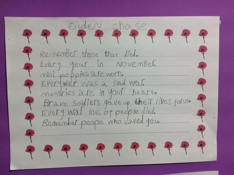 The children wrote some fantastic poems.