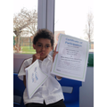 Nathan earns his certificate