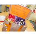 We made a treasure chest to store our treasure.