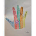 'Be Kind' hand by Jayden