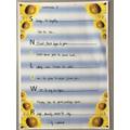 Lily's sunflower acrostic poem! Fantastic work!