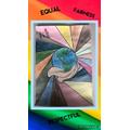 Amelia's equality art work. Black Lives Matter