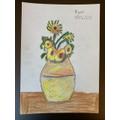 Ryan's beautiful sunflower art