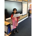 Mishal (Y2) did a piece of writing based on helping others during Ramadan