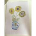 Sunflower artwork by Alyssa